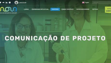 Print da página de comunicação de projeto da Inova Unicamp