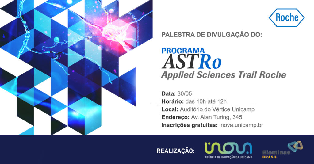 Imagem de nerônio na divulgação do Programa ASTRo