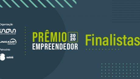 Logo Prêmio Empreendedor 2020 e frase Finalistas
