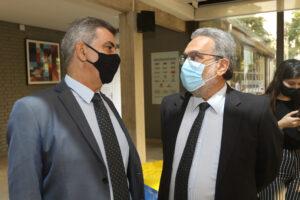 Prof. Newton Frateschi e Prof. Marco Aurelio Pinheiro Lima, durante a inauguração da nova sede da Inova Unicamp