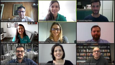 Captura de tela feita da plataforma zoom com os convidados do evento do Unicamp Ventures