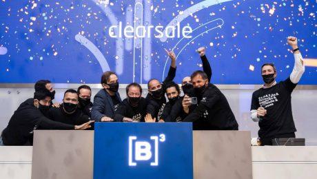Sócios e executivos da ClearSale em evento de estreia das ações na B3 (Cauê Diniz)